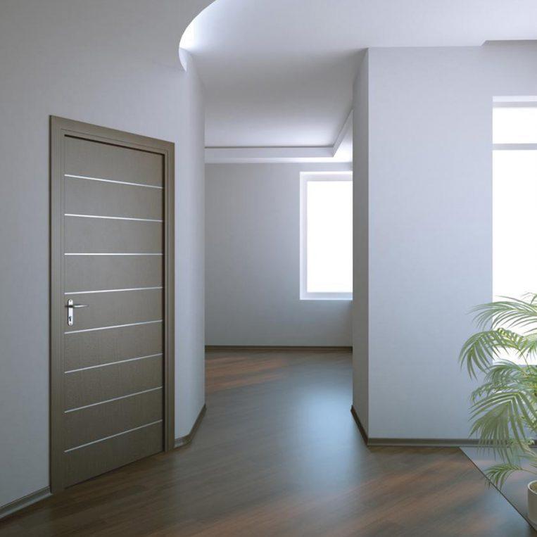 Porta tamburata inserti alluminio farm legno - Porta tamburata legno ...