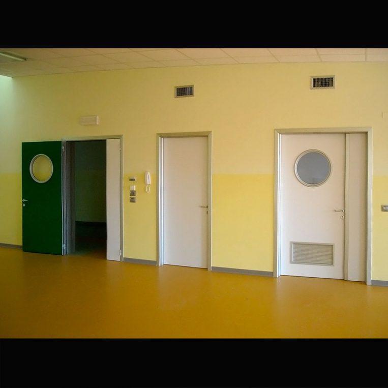 porte tecniche alluminio per ospedali